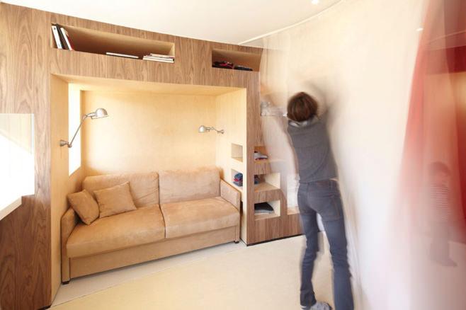 Дизайн небольшой квартиры с детской комнатой от студии H2o
